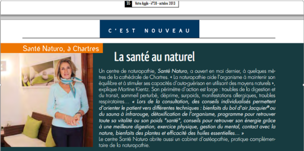 Article Naturopathie Chartres Agglo